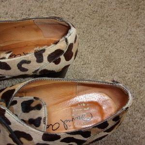 David Aaron Shoes - David Aaron Calfskin Leopard Shoes lace up Heels 7